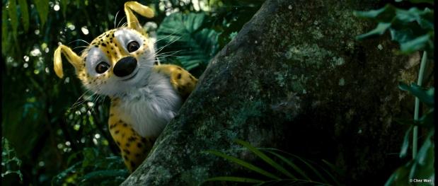 Le Marsupilami, animal au regard malicieux qui demeure l'attraction du film.